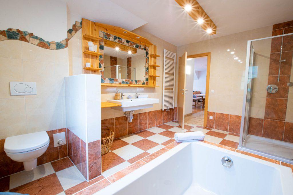 Bergbauernhof Ofner Ferienwohnung Badezimmer